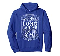 Fighting Squad Lung Cancer Awareness T-shirt Hoodie Royal Blue