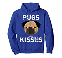 Pugs And Kisses Dog Animal Pet Funny Valentine S Day T Shirt Hoodie Royal Blue