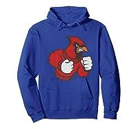 Cardinal Fighting Cardinals Mad Bird Graphic Shirts Hoodie Royal Blue