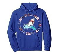 Shark Bow Legged Funny Shirt Hoodie Royal Blue
