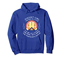 August Girl The Soul Of A Gypsy T Shirt August Girl Birthday Premium T Shirt Hoodie Royal Blue