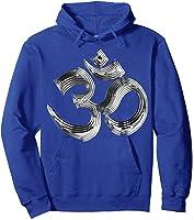 Om Yoga Chrom Zeichen   Buddha Vishnu Liebe Schwarz Weiß T-shirt Hoodie Royal Blue
