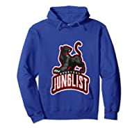 Junglist Dnb Drum And Bass Rave Panther Zip Shirts Hoodie Royal Blue