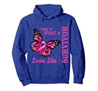 This Is What A Survivor Looks Like Breast Cancer Awareness T Shirt Hoodie Royal Blue