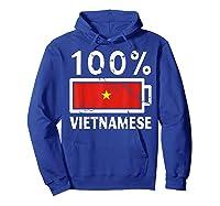 Vietnam Flag T Shirt 100 Vietnamese Battery Power Tee Hoodie Royal Blue