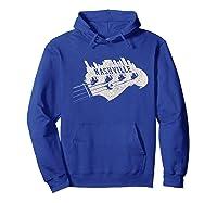 Nashville Skyline Bass Guitar Country Music City Souvenir Premium T Shirt Hoodie Royal Blue