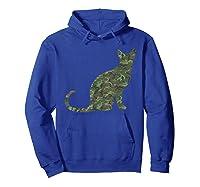 Military Balinese Camo Print Us Feline Cat Veteran Gift Shirts Hoodie Royal Blue
