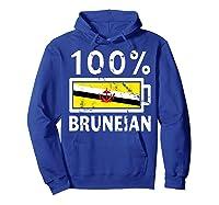 Brunei Flag T Shirt 100 Bruneian Battery Power Tee Hoodie Royal Blue