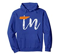 Tennessee State Flag Orange And Home Shirt Distressed Hoodie Royal Blue