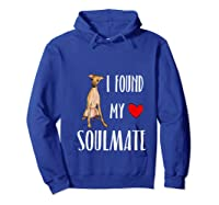 I Found My Soulmate Italian Greyhound Dog Lover Best Friend T-shirt Hoodie Royal Blue