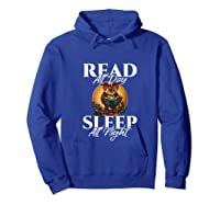 Sleep All Day Read All Night Bookish Read A Book Day Owl Tank Top Shirts Hoodie Royal Blue