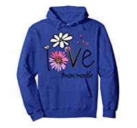 Mother S Day Gift Love Mom Mom Life Flower Tshirt Hoodie Royal Blue