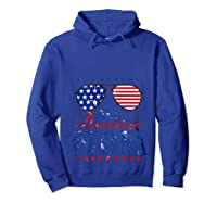 All American Mom 4th Of July Sunglasses Matching Family Tank Top Shirts Hoodie Royal Blue