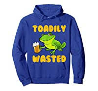 Funny Frog Drink Beer Toadily Wasted Beer Party Gift T Shirt Hoodie Royal Blue