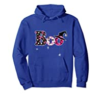 Halloween Boo Breast Cancer Awareness Month Tank Top Shirts Hoodie Royal Blue