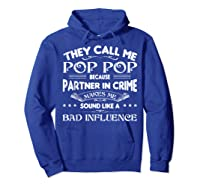 Funny Pop Pop Dad Shirt Valentine Fathers Day Christmas Gift Hoodie Royal Blue