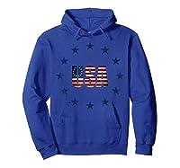 Vintage Betsy Ross Flag T-shirt Hoodie Royal Blue