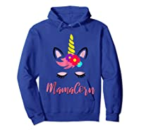 Mamacorn T Shirt Cute Funny Unicorn Gift For Mothers Day Mom Hoodie Royal Blue