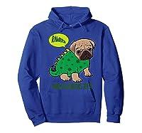 Pugasaurus Rex Cute Pug Dinosaur T Rex Halloween Costume Premium T-shirt Hoodie Royal Blue