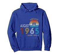 Retro Classic Vintage Jeeps August 1965 54th Birthday Jeeps Shirts Hoodie Royal Blue