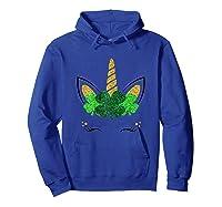 Unicorn Face St Patrick S Day T Shirt Girls Hoodie Royal Blue