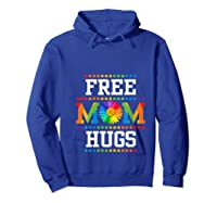 Free Mom Hugs Cute Flower Pride Lgbt Month 2019 Gift Shirts Hoodie Royal Blue