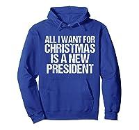 Impeach Trump Christmas T Shirt Funny Anti Potus Holiday Hoodie Royal Blue