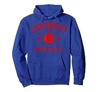 Cincinnati Baseball Vintage Distressed Ohio Red Retro Gift Shirts Hoodie Royal Blue