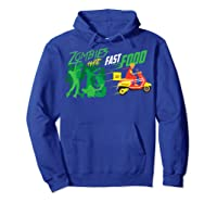 Cute Zombies Hate Fast Food For Couch Potatoes Shirts Hoodie Royal Blue