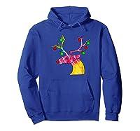 Tie Dye Reindeer Hippie Tie Dye Christmas Shirts Hoodie Royal Blue