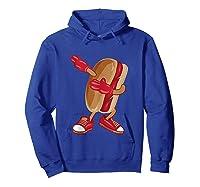 Dabbing Hot Dog Art Cool American Hot Dog Sandwich Gift Tank Top Shirts Hoodie Royal Blue