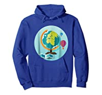 Science Design 4 Geography Travel T Shirt Hoodie Royal Blue