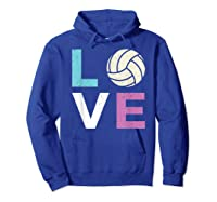 And A Volleyball Shirts Hoodie Royal Blue