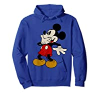 Disney Mickey Mouse Giggle T Shirt Hoodie Royal Blue