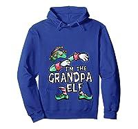 I'm The Grandpa Elf Dabbing Christmas Family Matching Gift T-shirt Hoodie Royal Blue