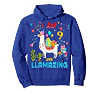 I Am 9 Years Old Zing Cute 9th Birthday Gift T-shirt Hoodie Royal Blue