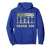 Thank You Veteran Dad Grandpa Veterans Day Gif Shirts Hoodie Royal Blue