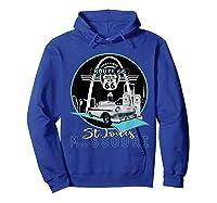 Saint Louis Missouri Route 66 Iconic Gateway Arch Souvenir T-shirt Hoodie Royal Blue