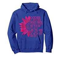 Breast Cancer Awareness October Month T Shirt Hoodie Royal Blue