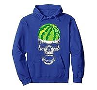 Skull Watermelon Cool Summer Fruit Melon Lover Gift Shirts Hoodie Royal Blue