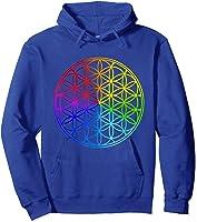 Blume Des Lebens Heilige Geometrie Spirituell Zen Yoga T-shirt Hoodie Royal Blue