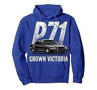 Police Car Crown Victoria P71 Shirt Hoodie Royal Blue