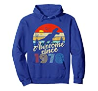 Dinosaur 41st Birthday Gifts Awesome 1978 41 Yrs Old Shirts Hoodie Royal Blue