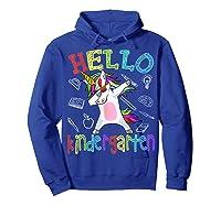 Hello Kindergarten Unicorn Tshirt Funny Back To School Gift Hoodie Royal Blue