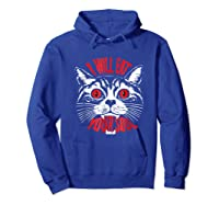 I Will Eat Your Soul Satanic Cat Spooky Halloween T Shirt Hoodie Royal Blue