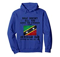 Saint Kitts Nevis Dad Gifts For Fathers Day Tank Top Shirts Hoodie Royal Blue