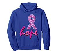 Hope Pink Ribbon Breast Cancer Awareness Month T Shirt Hoodie Royal Blue