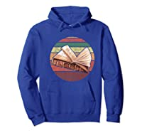 Bookworm Vintage Retro Bookish Reading Read A Book Day Gift Premium T Shirt Hoodie Royal Blue
