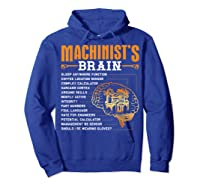 Funny Machinist Gifts Machinist S Brain Shirts Hoodie Royal Blue