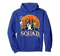 Skeleton Unicorn Pumpkin Dabbing Squad Team Halloween Tshirt Hoodie Royal Blue
